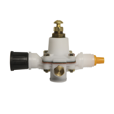 Flow regulator without pressure gauge